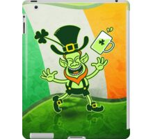 Euphoric Leprechaun Celebrating St Patrick's Day iPad Case/Skin