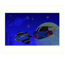 Race Thru Space Art Print