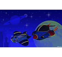 Race Thru Space Photographic Print