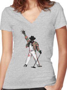 Scream Queen Women's Fitted V-Neck T-Shirt
