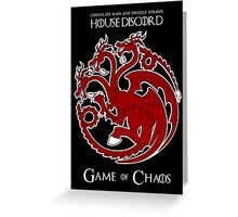 House Discord - Game of Chaos Greeting Card