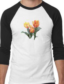 Orange and Yellow Tulips Men's Baseball ¾ T-Shirt