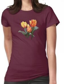 Orange and Yellow Tulips Womens Fitted T-Shirt