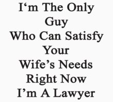 I'm The Only Guy Who Can Satisfy Your Wife's Needs Right Now I'm A Lawyer by supernova23