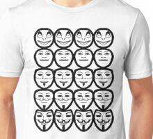For Vendetta - Black And White Unisex T-Shirt