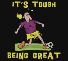 Funny Women Soccer Dark by SportsT-Shirts
