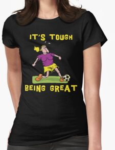 Funny Women Soccer Dark Womens Fitted T-Shirt