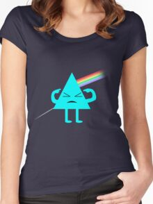 Dark Side Of The Finger Women's Fitted Scoop T-Shirt