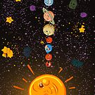 Solar System Funny Planets iPad Case / iPhone 5 Case / iPhone 4 Case  by CroDesign