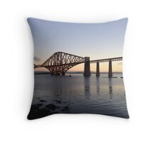 The Rail bridge South Queensferry, Scotland Throw Pillow