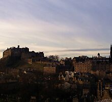 Edinburgh Castle from the National Museum of Scotland.   by LBMcNicoll