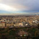 Edinburgh Castle Viewpoint.  Princes Street Gardens.   by LBMcNicoll
