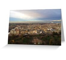 Edinburgh Castle Viewpoint.  Princes Street Gardens.   Greeting Card