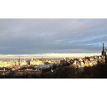 Edinburgh Castle viewpoint. Ramsay Gardens and the East End.  Photographic Print