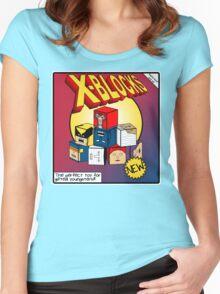 X-Blocks Box Women's Fitted Scoop T-Shirt