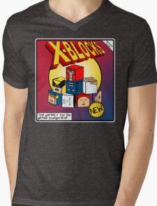 X-Blocks Box Mens V-Neck T-Shirt