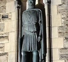 King Robert the Bruce Statue: Gates to Edinburgh castle by LBMcNicoll