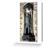 King Robert the Bruce Statue: Gates to Edinburgh castle Greeting Card