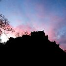 Sunrise over Edinburgh Castle.  by LBMcNicoll