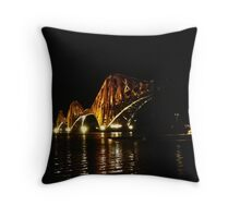 The Rail Bridge. South Queensferry.  Throw Pillow