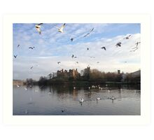 Linlithgow Palace and Linlithgow Loch. Art Print