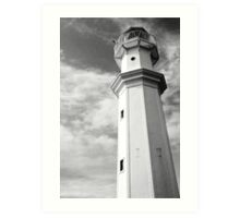 Newhaven Harbour lighthouse, Edinburgh, Scotland.  Art Print