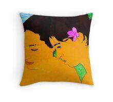 Hawaian Girls a la Gauguin Throw Pillow