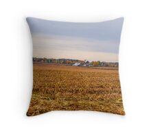 Autumn On An Indiana Farm Throw Pillow
