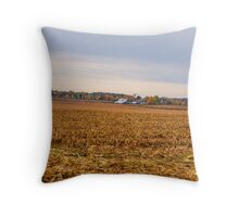 Autumn On An Indiana Farm Throw Pillow