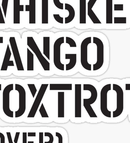 WTF (over) Sticker