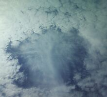 Peering Eyes Through the Clouds by thepouring