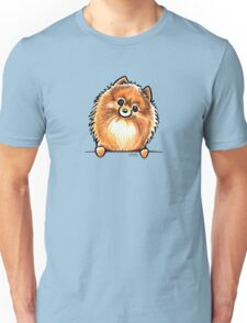 Red Pomeranian Paws Up Unisex T-Shirt
