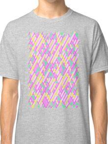 Geometric Lanes (Glam Pink/Yellow/Teal) Classic T-Shirt
