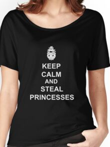 Keep Calm And Steal Princesses Bowser Women's Relaxed Fit T-Shirt
