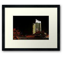 Night shot 03 - Beirut - Zaytouni Bay Framed Print