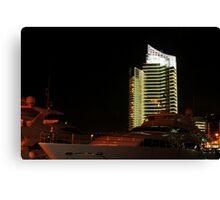Night shot 03 - Beirut - Zaytouni Bay Canvas Print