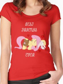 Fluttershy - Best Friends Ever Women's Fitted Scoop T-Shirt