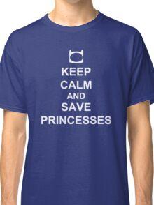 KEEP CALM AND SAVE PRINCESSES FINN Classic T-Shirt