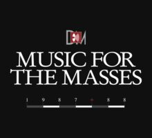 Depeche Mode : Music For The Masses Logo 3 White by Luc Lambert
