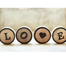 word of the day: LOVE Photographic Print