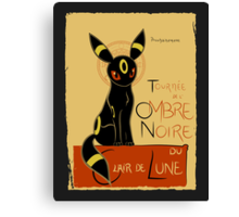 Ombre Noire (Pokemon) Canvas Print