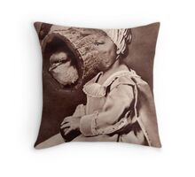 Persistance in Nature to Create a Child of Nature. Throw Pillow