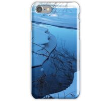 Winters blue winding river iPhone Case/Skin