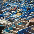 blue boats by Hannele Luhtasela-el Showk