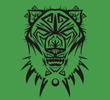 Fierce Tribal Bear T-shirt Design (Black) by chief9928