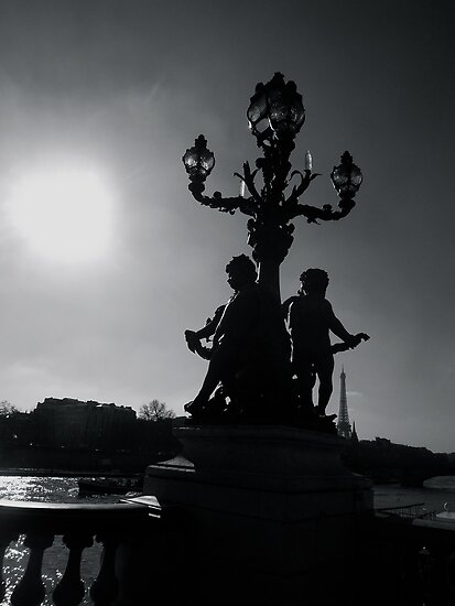 Paris bridge black & white by graceloves