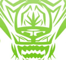 Fierce Tribal Bear T-Shirt Design (Green) Sticker