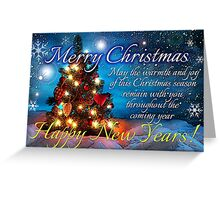 christmas scene 1 Greeting Card