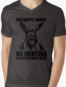 NOT HAPPY BARRY Mens V-Neck T-Shirt
