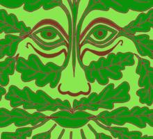 The Minimalist Green Man Sticker